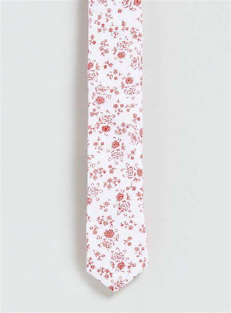 Floral Print Tie topman pink floral print 3cm tie in floral for