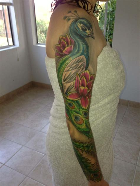 peacock sleeve tattoo best 25 peacock sleeve ideas on