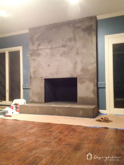 covering brick fireplace with ceramic tile diy concrete fireplace for less than 100