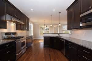 Kitchen Backsplash With Dark Cabinets Dark Kitchen Cabinets White Subway Tile 3421 Home And