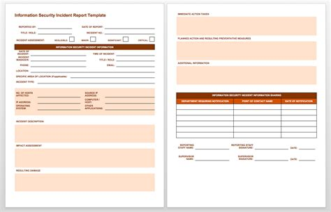 incident summary report template free incident report templates smartsheet