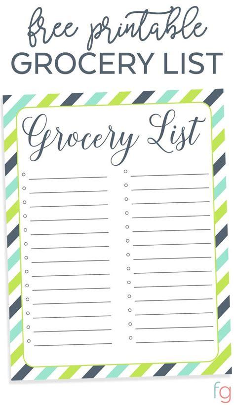 printable list template printable grocery list template printable grocery list