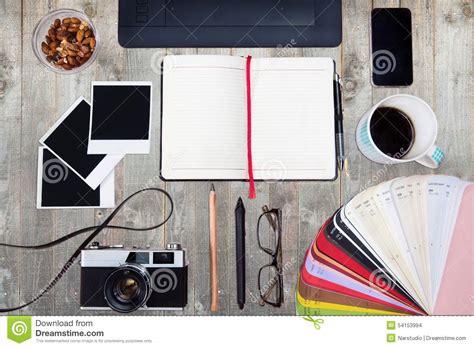 office desk top view designer desk top view
