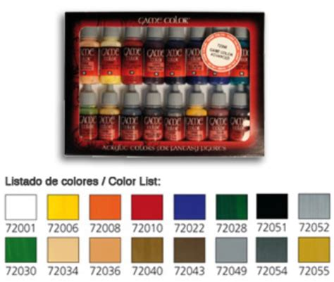 vallejo paints 17ml bottle introduction color paint
