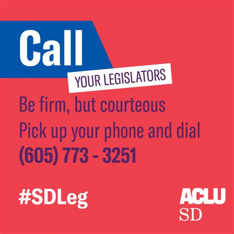 Voting On What To Call The In My W by Call Your Legislator Aclu Of South Dakota