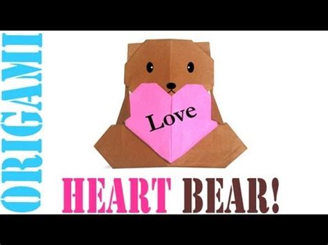 How To Make Paper Teddy - origami daily 285 for s day tcgames