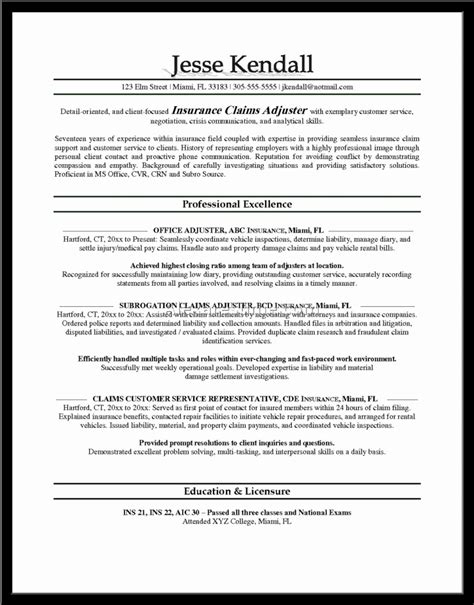 Claims Insurance Department Of Resume by 19 Claims Adjuster Resume Melvillehighschool