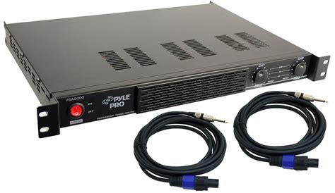 Rack Mount Speaker by Pro Audio Pyle Dj Psa2000 Rack Mount 2000 Watt Pa Speaker Lifier With Speakon Cables