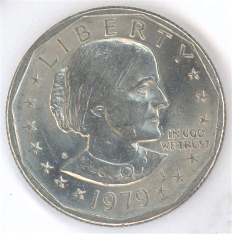 1979 s susan b anthony one dollar coin by redhorse0088 on etsy