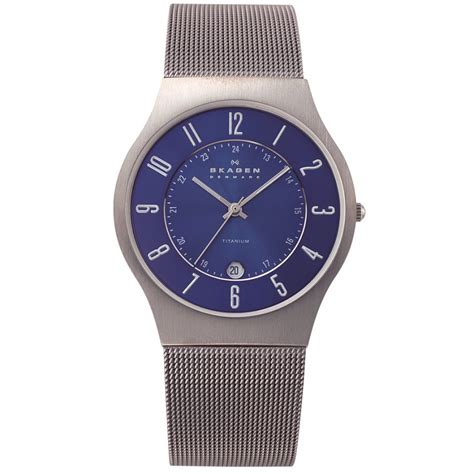 skagen watches 233xlttn titanium mens buy skagen