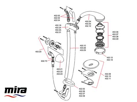 mira linesse ev shower spares and parts mira linesse ev