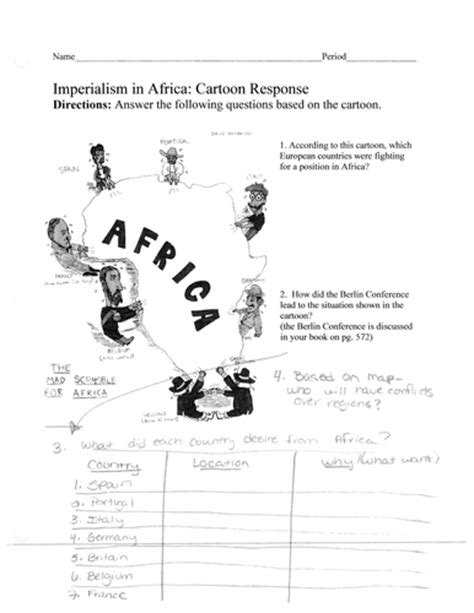 the new imperialism section 1 quiz imperialism scramble for africa political cartoon