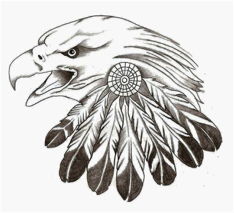 tribal eagle feather tattoo stencil indian feather craft eagle stencil