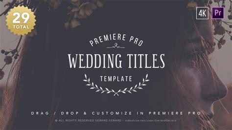 Wedding Titles Premiere Pro By Gerardgerard Videohive Premiere Pro Wedding Title Templates