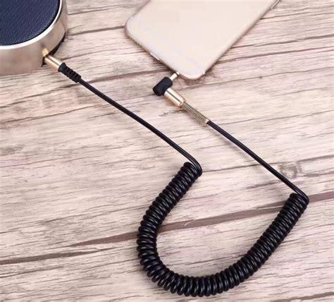 Kabel Audio 3 5mm Aux Speaker Hifi Noodle 1m kabel aux 3 5mm hifi type l black