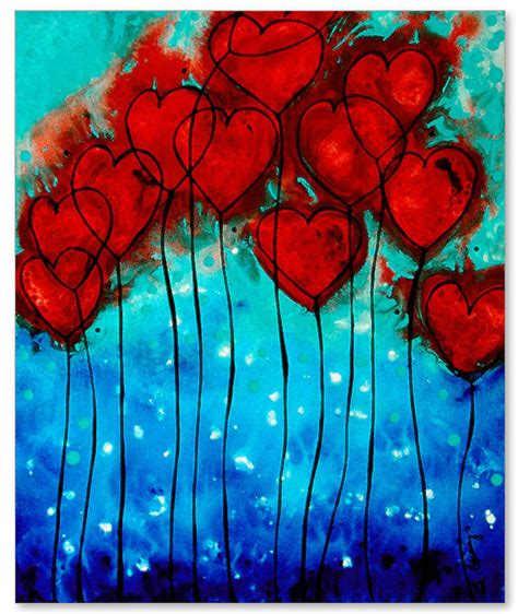 images of love art romantic heart art print hearts on fire love red and blue