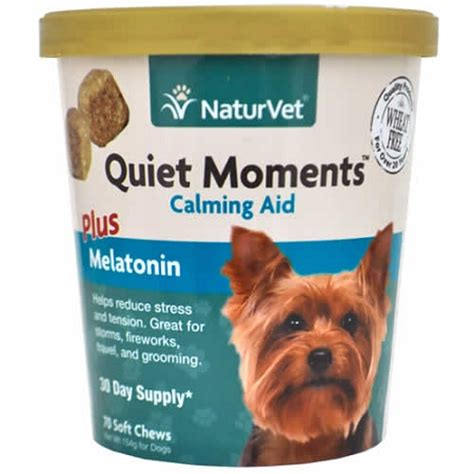 calming chews for dogs naturvet moments calming aid soft chews for dogs 70 ct