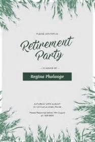 Party Flyer Templates Postermywall Retirement Luncheon Flyer Template