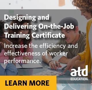 atd design learning certificate atd education