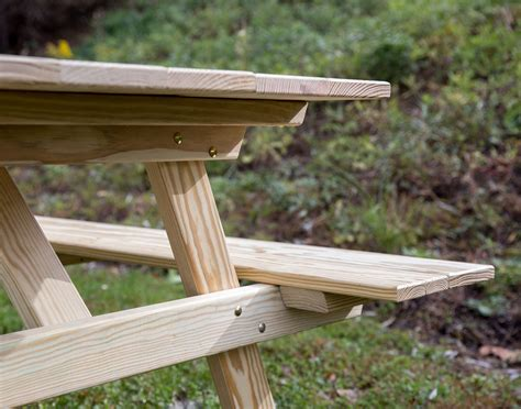 pine picnic bench 66 quot treated pine classic picnic table