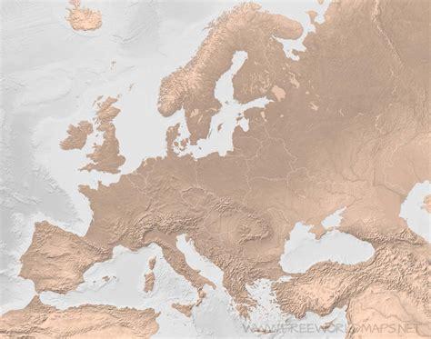 europe blank physical map europe blank map