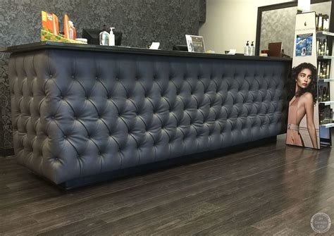 tufted salon reception desk commercial projects