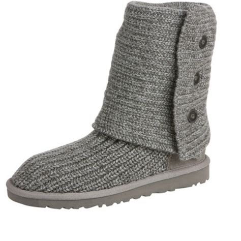 40 Ugg Boots Grey Knit Ugg Boots From Nicolette S