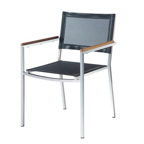 fauteuil acier fauteuil de jardin en acier riverside maisons du monde