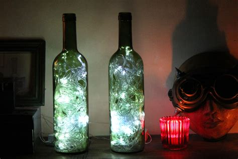 How To Make Wine Bottle Lights how to make wine bottle accent lights with pictures