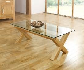 Lyon Oak Coffee Table Lyon Oak Glass Coffee Table