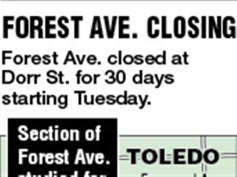 Forest Avenue In Central City Closed For Study Toledo Blade