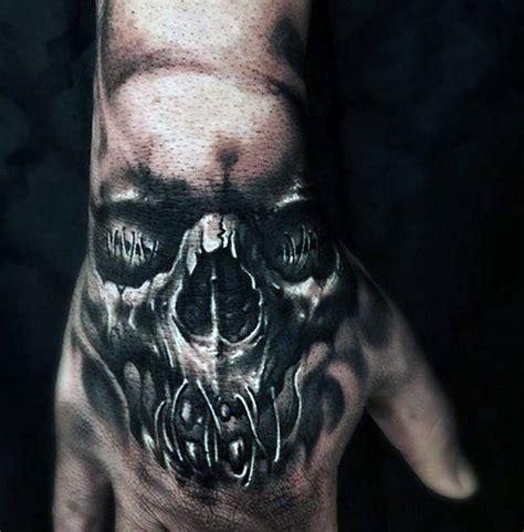 skull tattoo on hand 80 skull designs for manly ink ideas