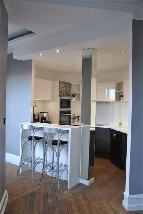 Cuisine Couloir Ouverte Sur Salon cuisine ouverte sur couloir cuisine en image