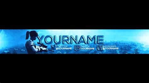Free Fortnite Banner Youtube Fortnite Banner Template
