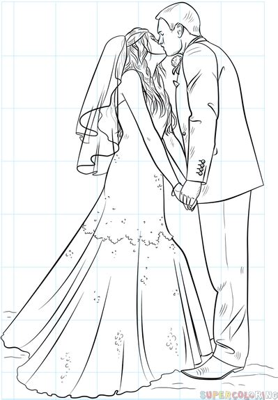 braut zeichnung how to draw a bride and groom step by step drawing tutorials