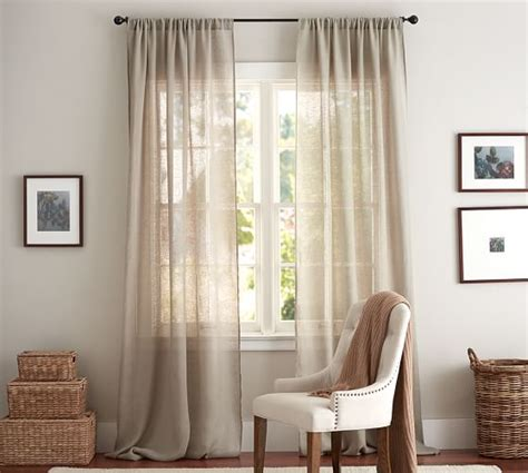 sheer curtains pottery barn linen sheer drape pottery barn