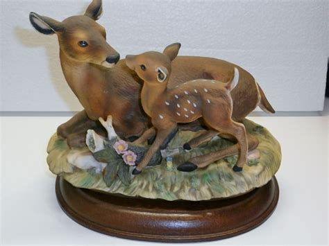 home interior collectibles 1979 homco home interiors porcelain masterpiece deer and