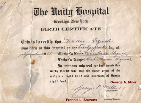 hospital birth certificate template 6 best images of birth certificate from hospital blank