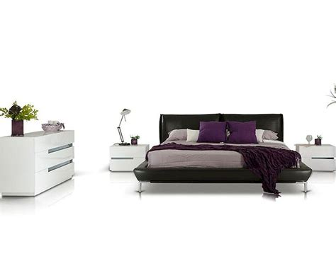 modern style bedroom set modern style bedroom set w grey leather platform bed