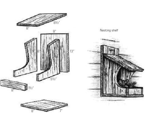 build diy cardinal nesting shelf plans plans wooden building  wood ladder upbeatfcj