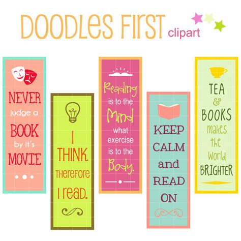 printable bookmarks with quotes from books reading quotes bookmarks digital clip art for by