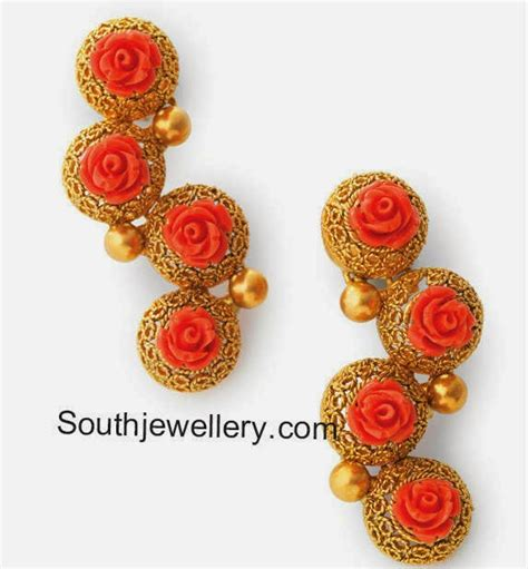 coral necklace jewelry designs jewellery designs