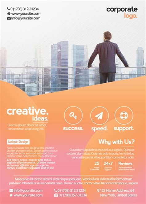 Freepsdflyer Free Health Business Flyer Psd Template Download For Photoshop Photoshop Flyer Templates Business