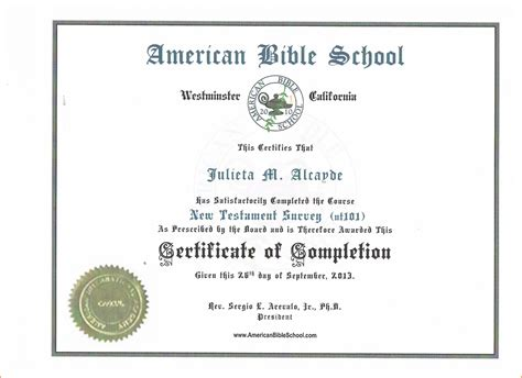 sample certificates of completion 12 13 samples of certificates of completion