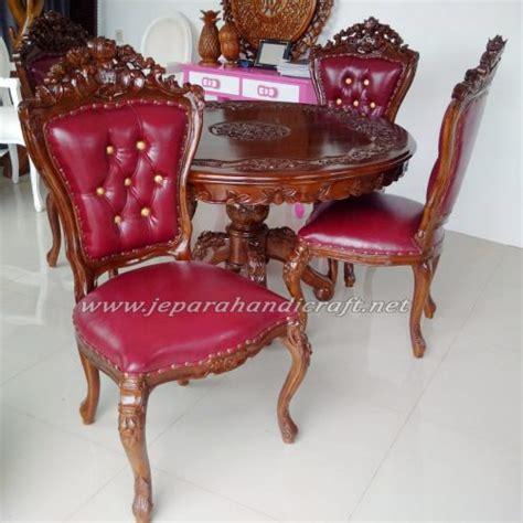Meja Makan Ganesha exclusive set kursi meja makan ukir jati ganesha murah