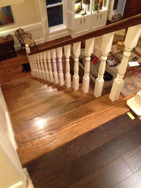 is it wrong to different wooden flooring upstairs
