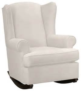 wingback rocker contemporary gliders by pottery barn
