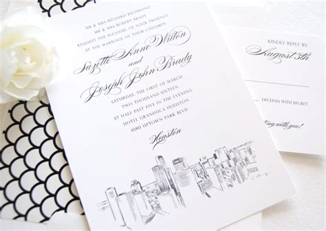wedding invitations houston invitations hub houston skyline wedding invitations