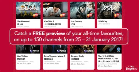 singtel new year promo singtel to offer free preview of up to 150 channels this