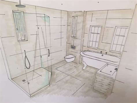 Design A Bathroom Online Hand Drawn Designs Vs Cad Designs